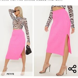 Petite midi skirt from pretty little thing